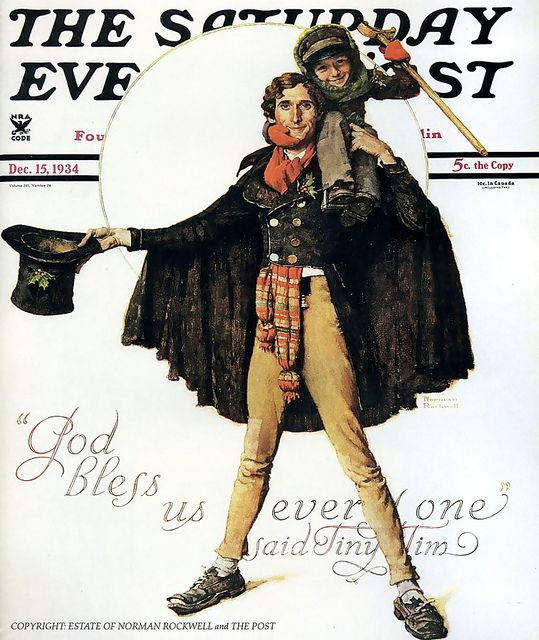 1934 ... 'God Bless Us Everyone!'- Norman Rockwell by x-ray delta one, via Flickr