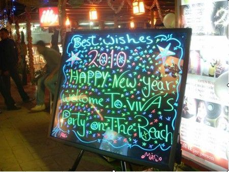 low price different led illuminated writing board