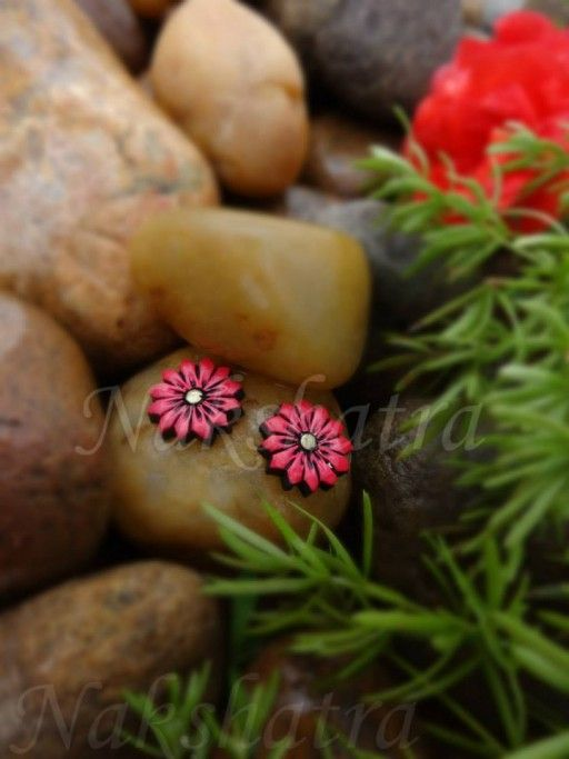 Terracotta Tiny Stud By Nakshatra. Buy this - http://jumkey.com/shop/earrings-handicrafts/terracotta-tiny-stud-3/