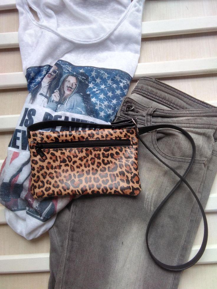 Riñonera de Cuero, Riñonera Mujer Leopardo, Bolso Leopardo, Riñonera Hippie Leopardo, Bolso de cintura de NURIMUSHOP en Etsy