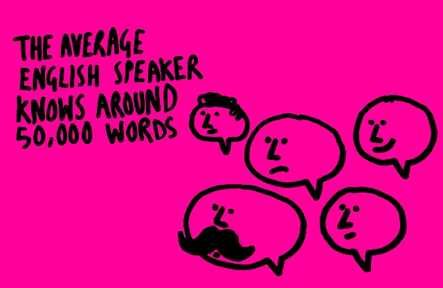 The average english speaker knows around 50,000 words