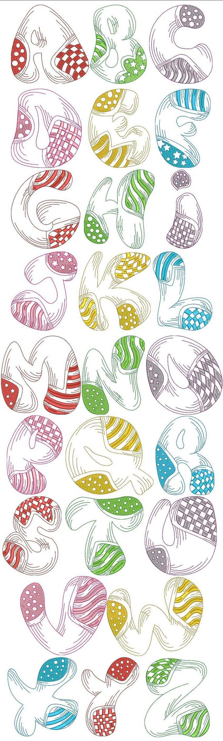 Alphabet letters numbers 2 pinterest bilder for Embroidery office design version 7 5