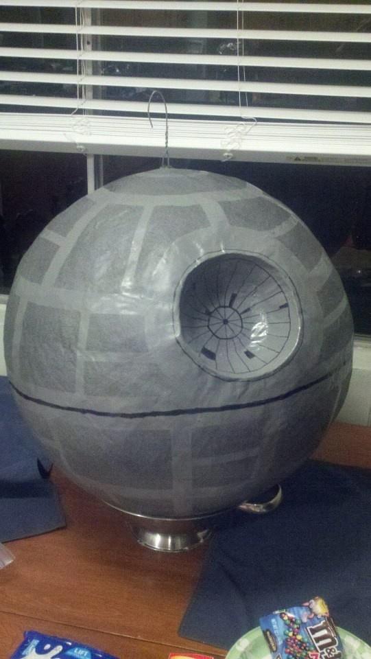 Death Star paper mache Pinata