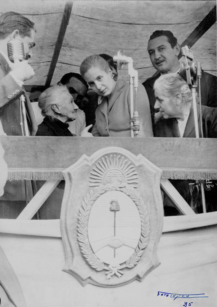 """""""Donde existe una necesidad nace un derecho"""". Eva Perón. Museo Evita."""