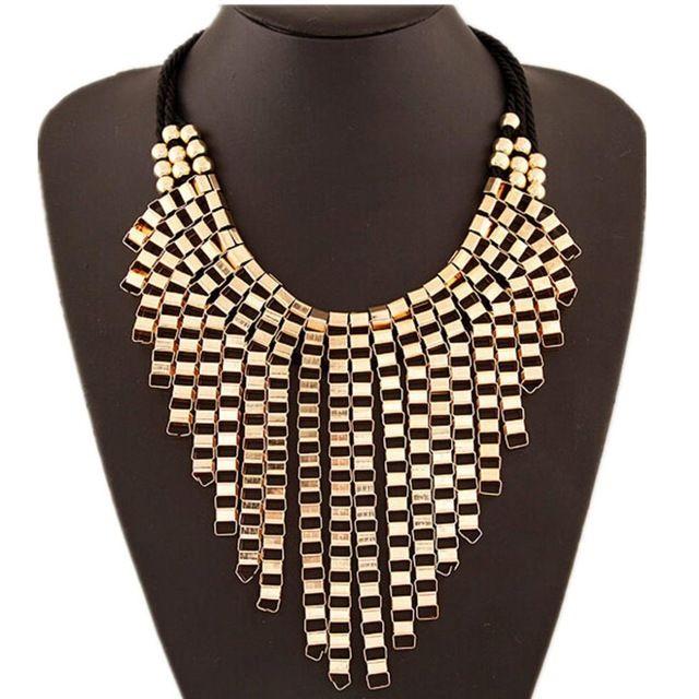 Ожерелье бренд класса люкс коренастый цепи дешевые старинные золотые посеребренные себе колье ожерелья бижутерии для женщин