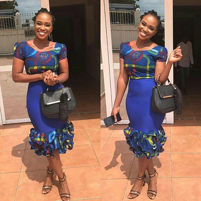 10 Ankara Styles You Need About Just 1 Yard Of Ankara Fabric To Sew Tomi S Colour Pavilion Combination Dresses Ankara Styles African Fashion