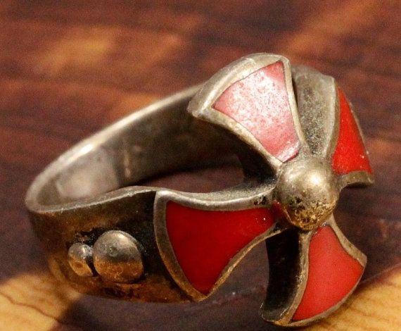 Vintage Crusader Knight Cross Ring by SeaSirensArtGallery