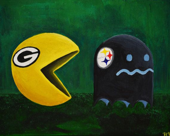 Green Bay Packers Vs Steelers - Art Print