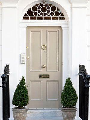 Dulux Cameo silk beige front door paint - front door colours - home decor ideas - homes - allaboutyou.com
