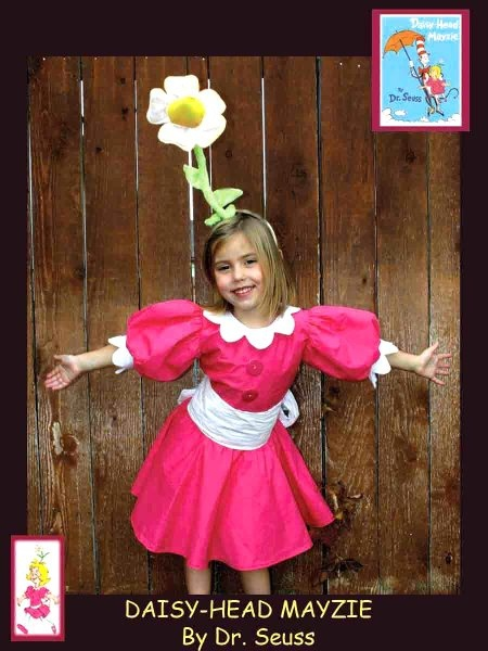 Kaylee - Daisy-Head Mayzie. Dr. Seuss - Homemade costumes for families
