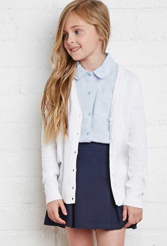 School Uniform Cardigan (Kids)   Forever 21 girls   #f21kids