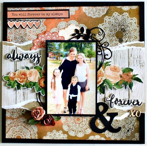 Kaisercraft Always and Forever Layout by Alicia McNamara