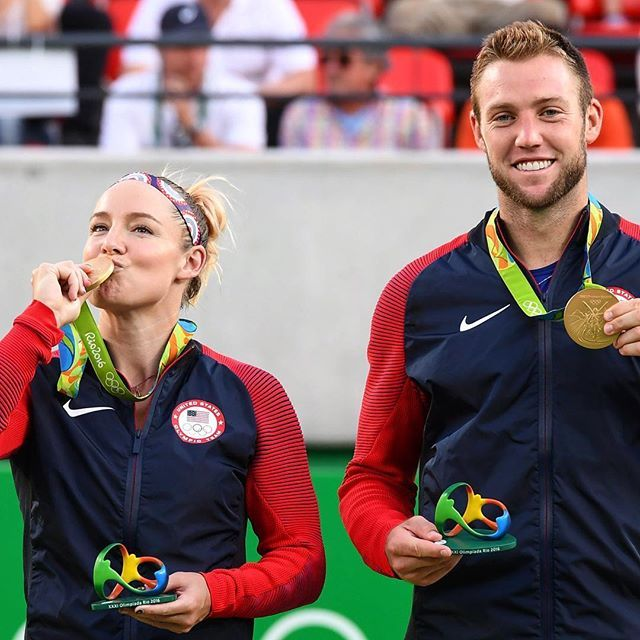 @MattekSands and @Jack.Sock Mixed Doubles #Gold Medalists! #Rio2016 #Olympics