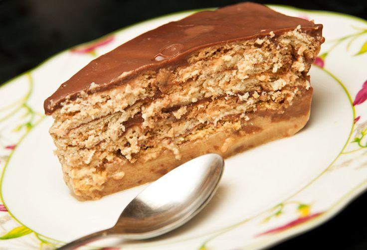 Deliciosa torta de galletas y dulce de leche que no te puedes perder