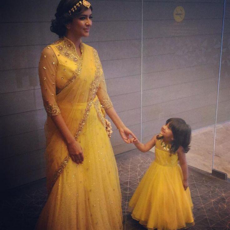 "6,196 Likes, 42 Comments - Lakshmi Manchu (@lakshmimanchu) on Instagram: ""#motherhood #bliss #happiness"""