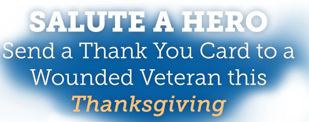 Thanksgiving Thank You | www.saluteahero.org #AmericanVeterans