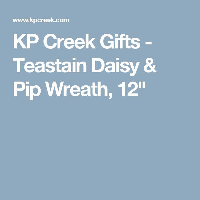 "KP Creek Gifts - Teastain Daisy & Pip Wreath, 12"""