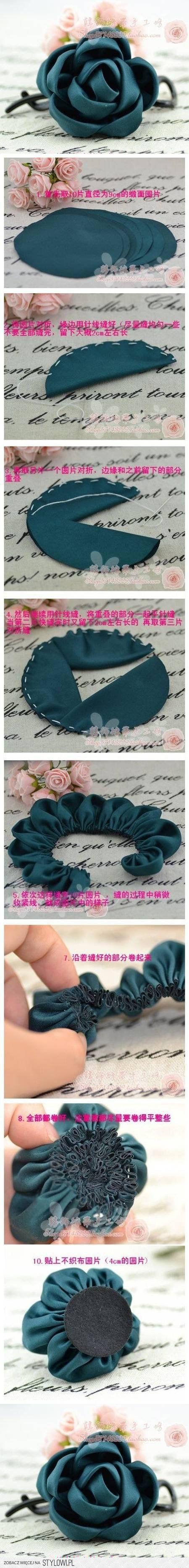 DIY Easy Fabric Roses DIY Projects | UsefulDIY.com na Stylowi.pl