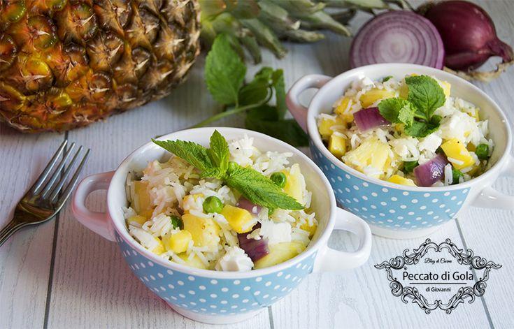 ricetta insalata di riso mango e ananas, peccato di gola