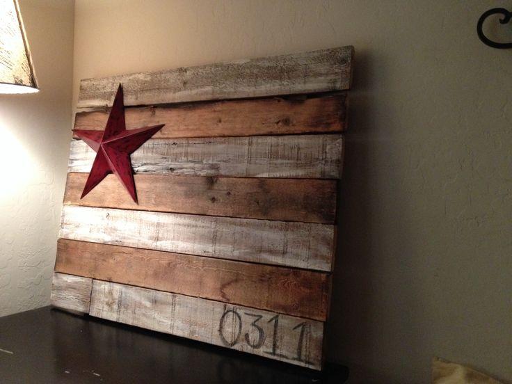 Barn wood Flag for Ryan