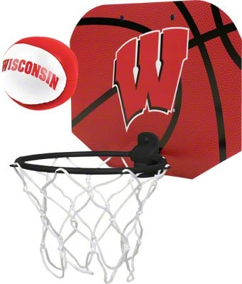 Wisconsin Badgers Softee Basketball Hoop Set Wisconsin