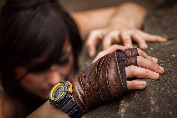 Hey, I found this really awesome Etsy listing at https://www.etsy.com/listing/184434280/lara-croft-archery-glove-wrap-for