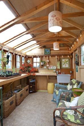 Potting Shed Interiors   Pacific NW   Gardening is an athletic endeavor for Nan Paris   Seattle ...