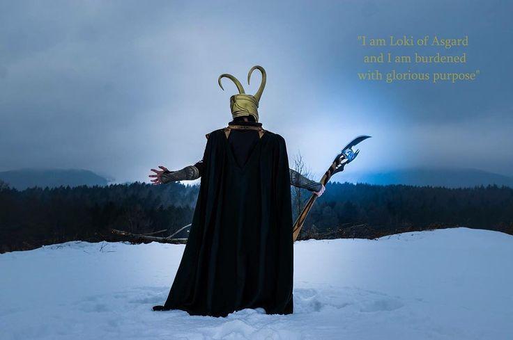 """I am Loki of Asgard and I am burdened with a glorious purpose!"" Here you go with no Gwenom but something way more godly  Photographer @eva.elda  #loki #kneel #kneeltotheking #marveluniverse #marvel #cosplay #marveluniverse #asgard #thor #theavengers #avengers #marvelcosplay #godofmischief #mischief #winter #gloriouspurpose"