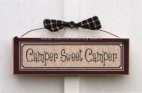 Camper Sweet camper Sign Plaque RV Camp Campsite Decorations Camping Decor | eBay