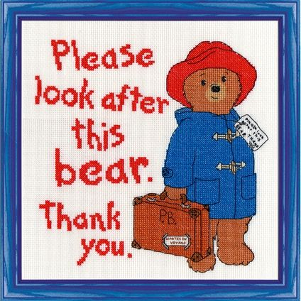 Please Look After This Bear #foxcollection #crossstitch #craft