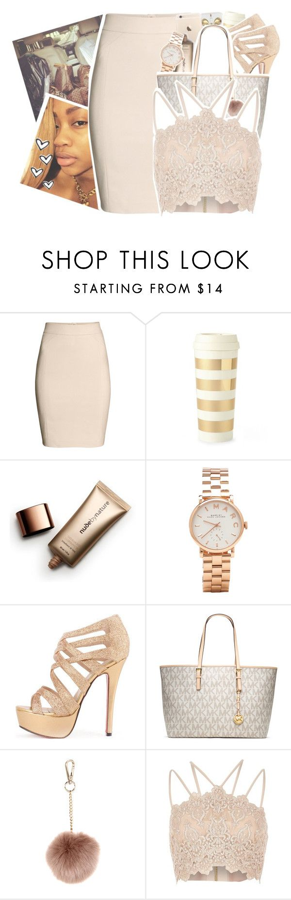 """""""« she just changed her twitter to 'partygetsmewetter' »"""" by p-rojectbaby ❤ liked on Polyvore featuring H&M, Kate Spade, Nude by Nature, Marc by Marc Jacobs, MICHAEL Michael Kors, Accessorize and River Island"""