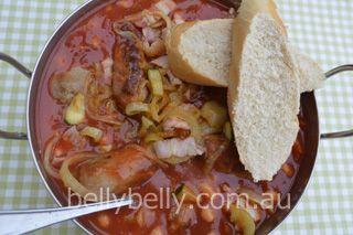 Cowboy Casserole - kids will love it! Full recipe here: http://www.bellybelly.com.au/recipes-cooking/cowboy-casserole-a-yummy-kid-friendly-pork-sausage-casserole