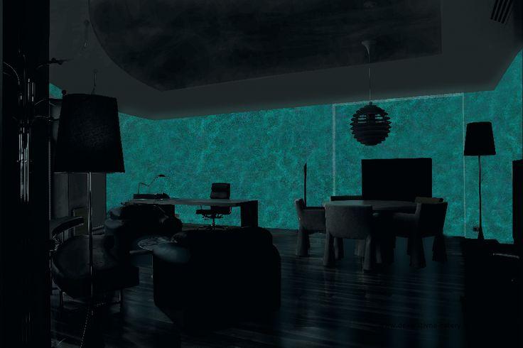 Obývačka, pracovňa -  MAGIC LIGHT - fosforujúci náter