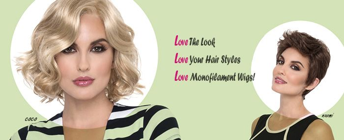 Monofilament wigs are made of a fine poly-silk mesh transparent material which fibers are hand tied to this thin breathable fabric. This construction creates an illusion that the hair really grows from the scalp. The monofilament section of the cap (crown/top, part or full) can be parted in any direction. Monofilament wigs are light-weight due to the thin breathable fabric and is softer to the touch than regular wigs. There are a wide variety of styles available for this special cap…