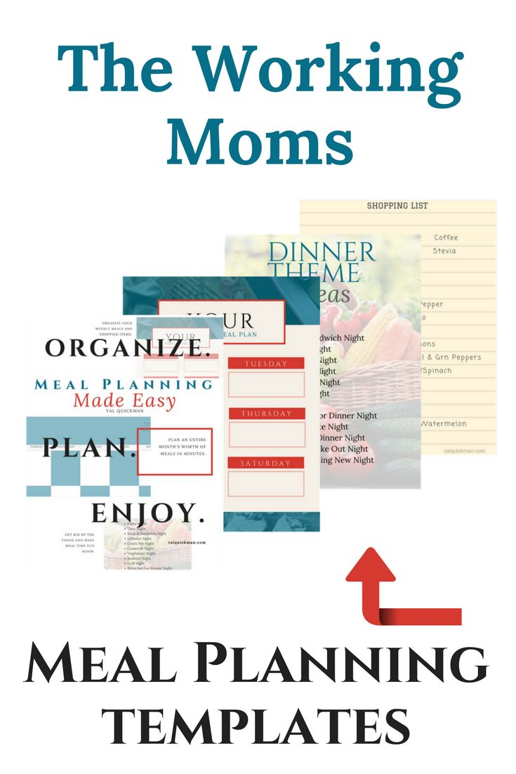 Make meal planning a part of your weekly to dos using this simple meal planning templates. #mealplan #mealprep #templates #mealplanning #workingmom #dinnerthemenight #printables #grocerylist #shopping #planning #organization