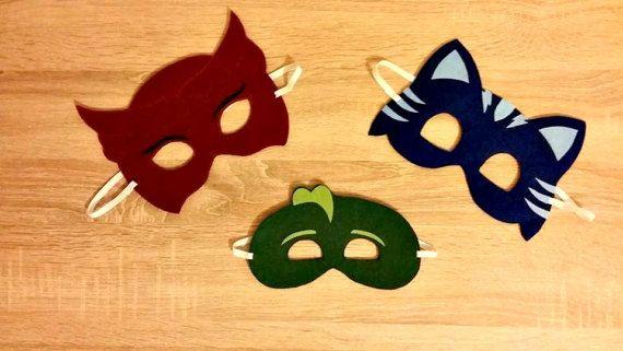 Bedtime hero masks inspired by PJ Masks.Pj masks birthday