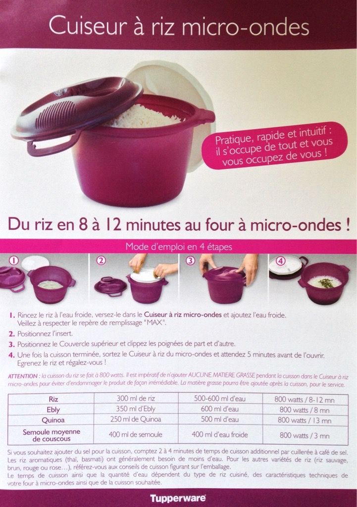 fiche recette cuiseur riz les macarons la chartreuse tupperware recette pinterest. Black Bedroom Furniture Sets. Home Design Ideas