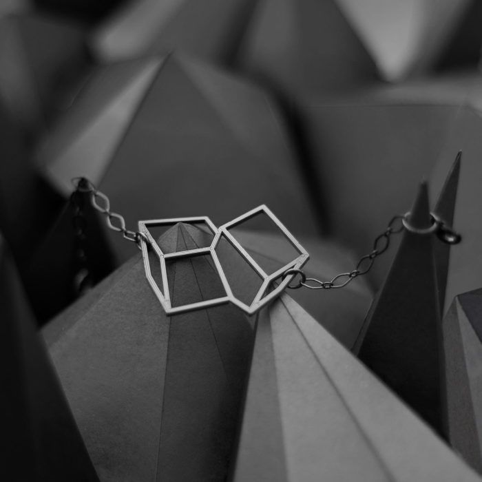 Crystals—black distinctive geometric bracelet from Spacelights