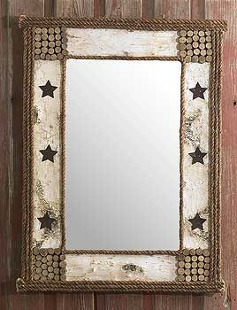 vintage western bathroom decor  Create mirror frame... barn wood?