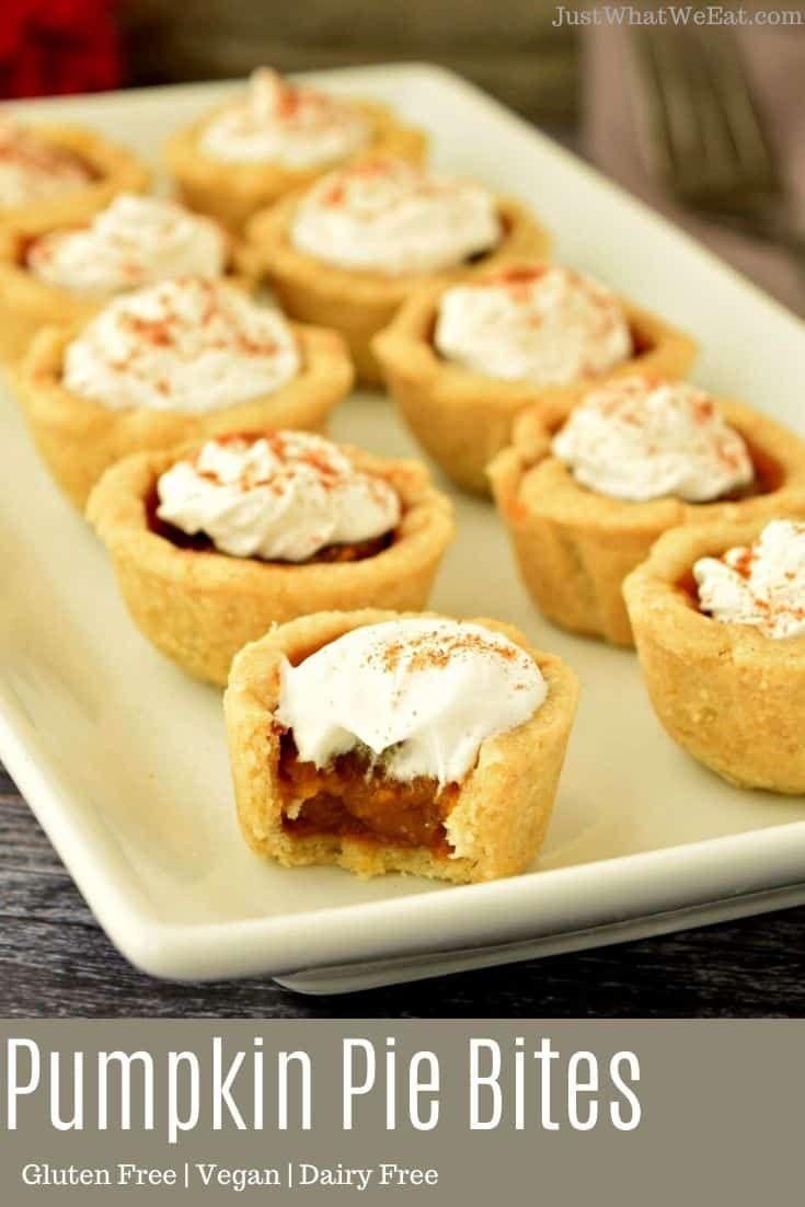 Pumpkin Pie Bites Gluten Free Vegan Refined Sugar Free Recipe In 2020 Pie Bites Traditional Pumpkin Pie Recipe Pumpkin Pie
