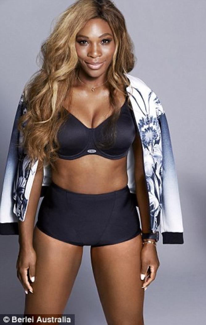 Serena Williams in posa HOT per una marca di reggiseni sportivi