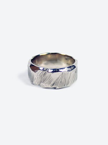 Ragged Band White Gold New Items Mens Ring In