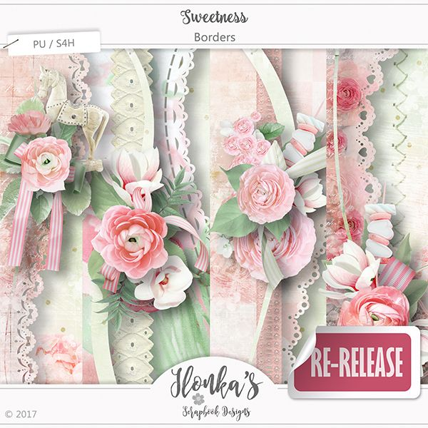 """""""Sweetness"""" Collection by Ilonka's Scrapbook Designs is lovely and soft in different shades of Pink and Green.   http://www.digiscrapbooking.ch/shop/index.php?main_page=index&manufacturers_id=131&zenid=505e549644797992fb6f20f38872706b  http://www.godigitalscrapbooking.com/shop/index.php?main_page=index&manufacturers_id=123  https://www.etsy.com/shop/Ilonkas?ref=hdr_shop_menu"""