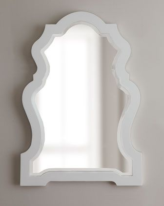 White-Framed Mirror at Horchow.  Think this could be cute in the bathroom:)