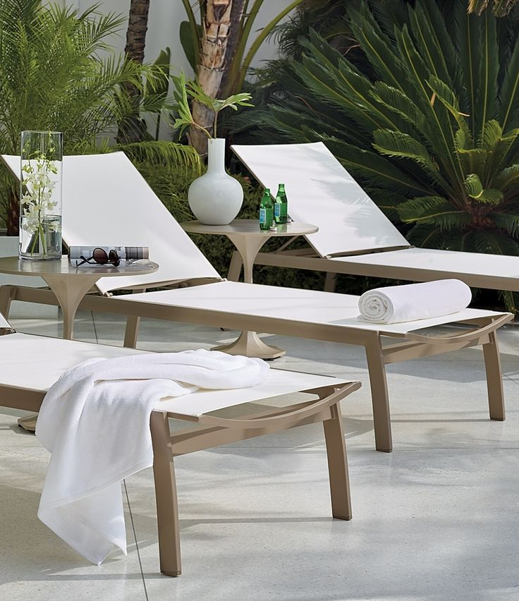 Ultimate pool chaise. Comercial-grade construction. Quick-drying mesh. The Newport Chaise sets a new standard.
