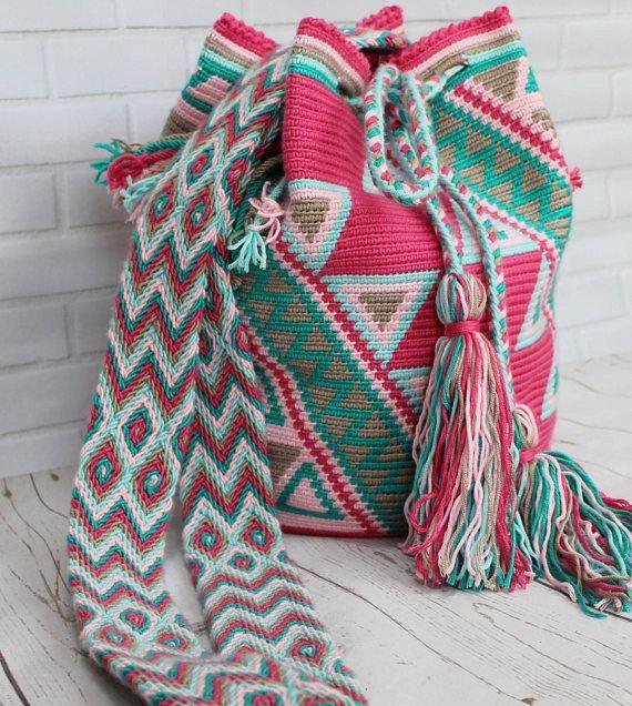 Mochila pattern, pattern bag, crochet pattern, wayuu, tapestry. £5.50