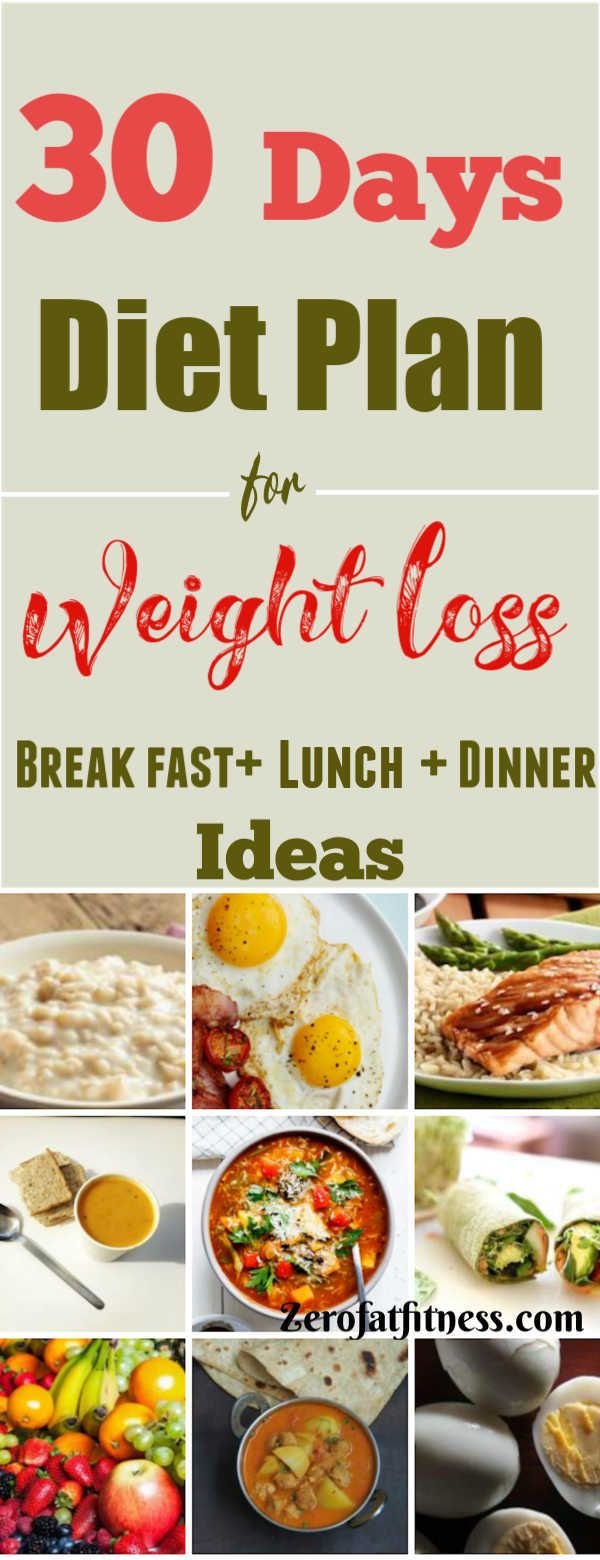 30 Days Diet Plan for Weight Loss – Healthy Meal Plan That Works