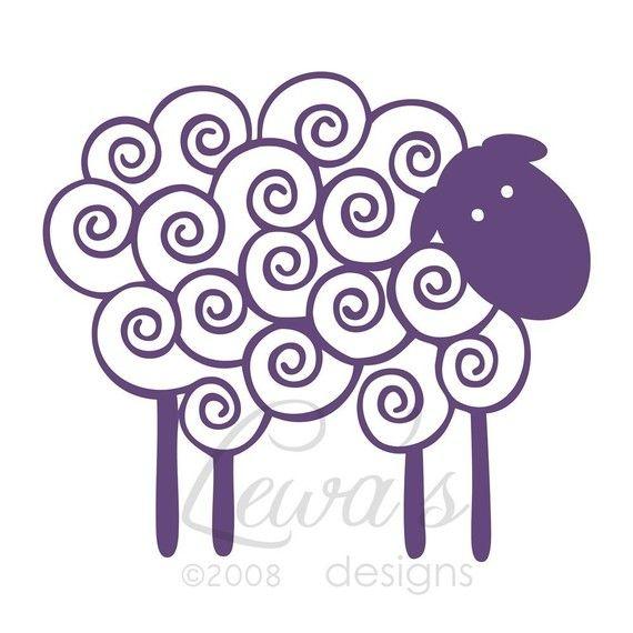 knitting wall art (sheep!)