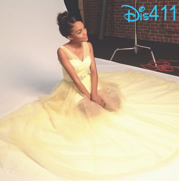 Behind The Scenes Photo Of China Anne McClain's Glitter Magazine Shoot April 15, 2014