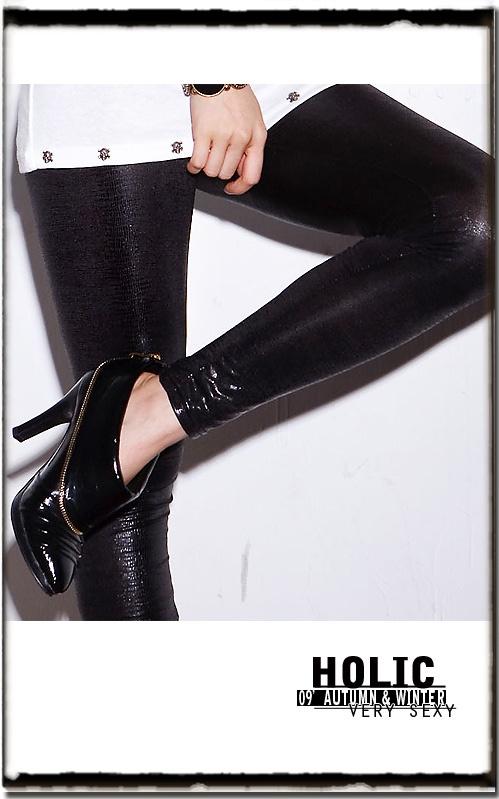 2012春装新款打底裤紧身女式韩版显瘦薄款仿皮亚光蛇纹韩国小脚裤-淘宝网